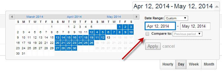 GA date range
