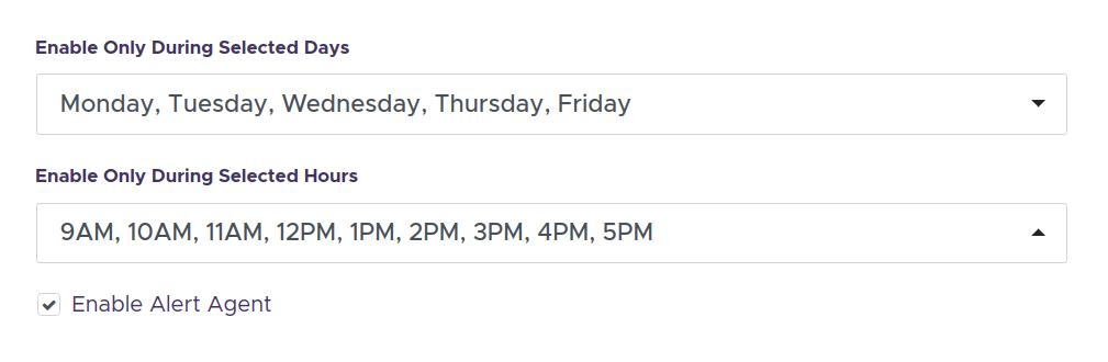 google analytics realtime alerts working hours