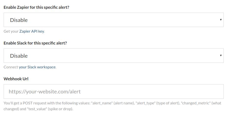 google analytics realtime alerts over slack