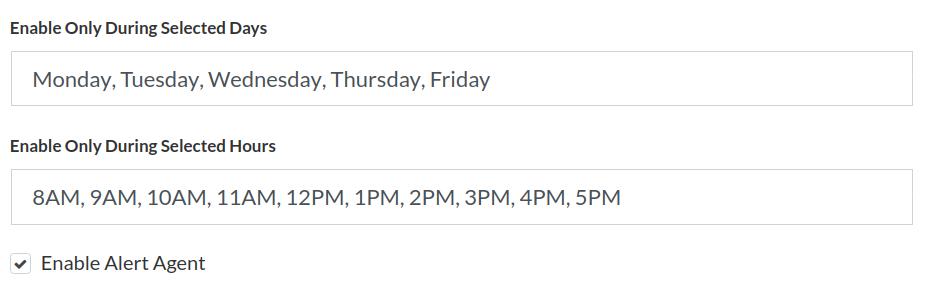 google analytics realtime alerts schedule