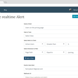 Google Analytics Real-Time alerts