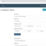 Google Analytics Real-Time alerts